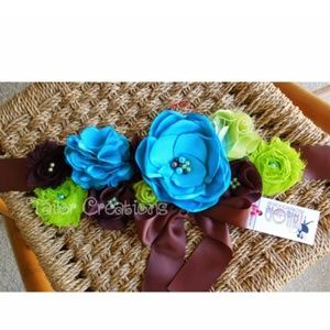 Boy theme Floral Wedding Maternity sash